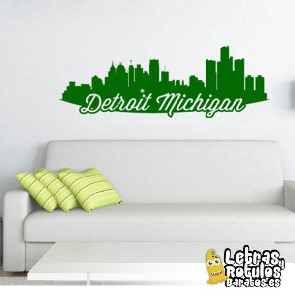 Skyline Detroit Michigan
