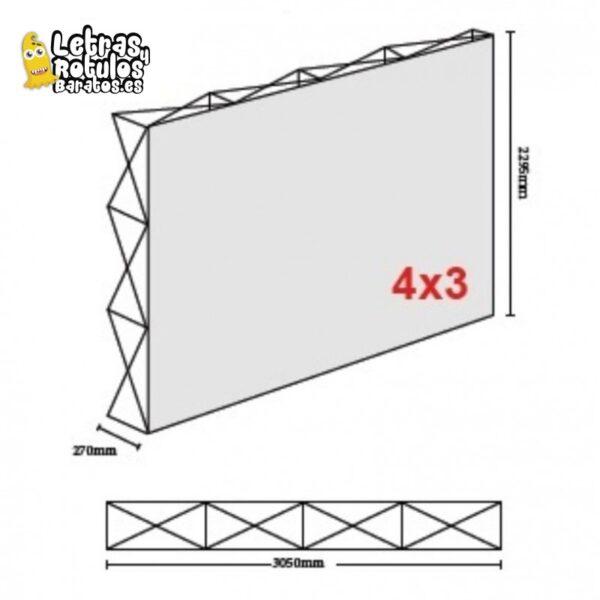Pop Up 4x3 (300x230cm)