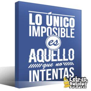 Lo único imposible