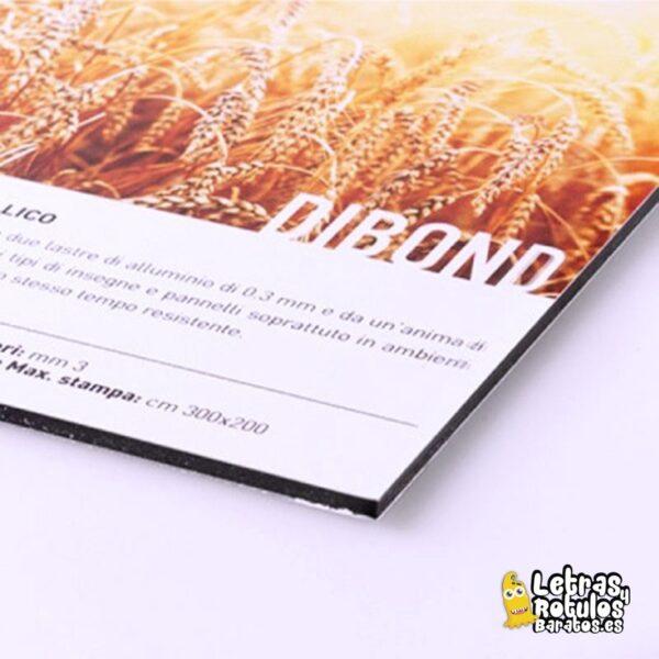 Dibond Aluminio Blanco Impreso