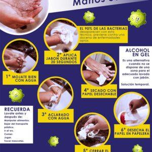 Cartel Informativo Especial COVID19 Lavado Manos